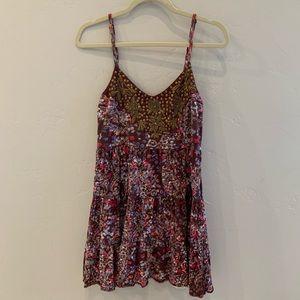 Free People Boho Embellished Dress S